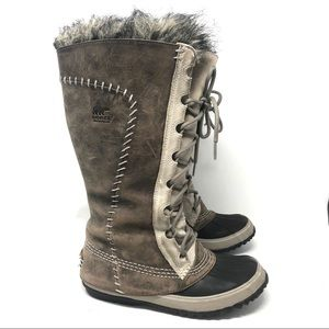 Sorel Cate the Great Tall Winter Boots Lined Sz 6